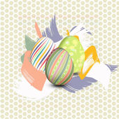 Easter eggs painted — Stock Vector