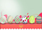 Easter, row of eggs — Stock Vector