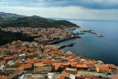 Village, Mediterranean sea — Stock Photo