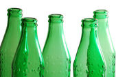 Green glass bottles — Stock Photo