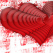 Stock Photo: Multiple red hearts