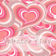 Stock Photo: Pink hearts card,