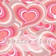 Stockfoto: Pink hearts card,