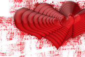 Multiple red hearts — Stock Photo