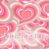 Pink hearts card, — Stock Photo