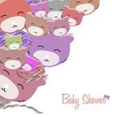 Smiling pink kittens — Stockfoto