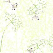 Tenké pastelové květy ilustrace — Stock fotografie