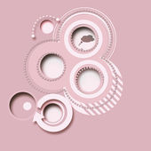 Pink abstract background, buttons 2d — Stock Photo