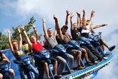 Disco rotary amusement park — Stock Photo