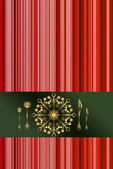 Red menu for Christmas dinner — Stock Photo