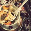 Stock Photo: Christmas Breakfast cereals vintage