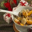 Christmas Breakfast cereals — Stock Photo