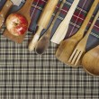 Stock Photo: Wooden spoons, cookware