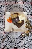 Marble cake Christmas — Stock Photo