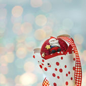 Cone christmas and santa claus — Stock Photo