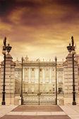 Old iron door. Royal palace. Madrid. Spain — Stock Photo