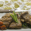 Pork ribs with vegetables — Stok Fotoğraf #37405927