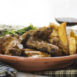Pork ribs with vegetables — Stok Fotoğraf #37406033