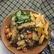 Pork ribs with vegetables — Stok Fotoğraf #37406043