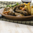 Pork ribs with vegetables — Stok Fotoğraf #37406141