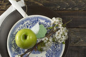Grönt äpple — Stockfoto