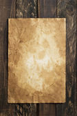 Old paper, brown wood texture  — Stock Photo