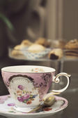 Antique pink tea cup — Stock Photo