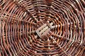 подробная информация о плетеные корзины — Стоковое фото