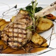 Broiled center cut veal chop — Stock Photo #22451811