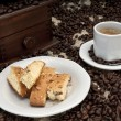 Biscotti and Espresso Coffee — Stock Photo