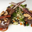 Lamb chops plate — Stock Photo #22452173