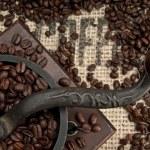 Постер, плакат: Coffee Grinder and Beans
