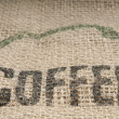 Burlap Coffee — Stock fotografie