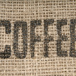 Coffee Burlap Sack — Stock Photo