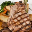 Stock Photo: Delicious veal chop