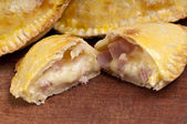 Ham and Cheese Empanada Close Up — Stock Photo