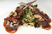 Lamb chops plate — Stock Photo