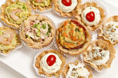 Canapes reaady to serve — Stock Photo
