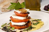 Stylish Caprese Salad — Stock Photo