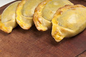 Traditional plate of empanadas. — Stock Photo