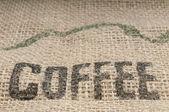 Burlap Coffee — Stock Photo