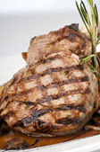 Broiled center cup veal chop closeup — Stock Photo