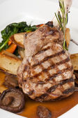 Delicious veal chop — Stock Photo