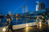 La Mujer Bridge in Puerto Madero — Stock Photo