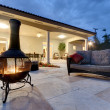 Backyard Fire Pit - Stockfoto