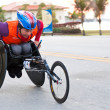 Athlete in wheelchair — Stock Photo