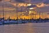 Crandon Park Marina in Key Biscayne Island in Miami, Florida — Stock Photo