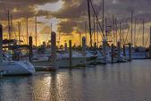 Crandon Park Marina in Key Biscayne — Stock Photo