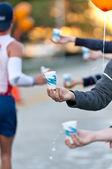 Water during a Marathon — Stock Photo