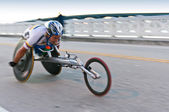 Wheelchair Competitor — Stock Photo